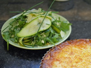 Raw courgette salad with Västerbottensost Cheese