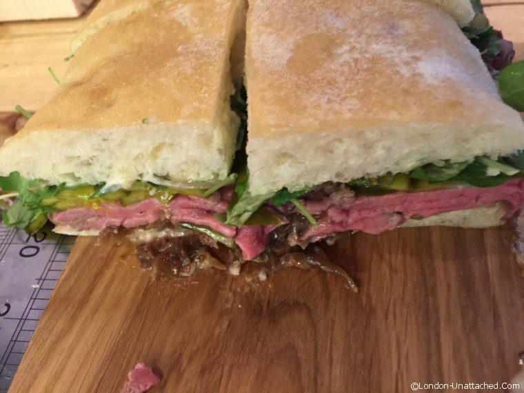 Street kitchen Sandwich - meat sandwich