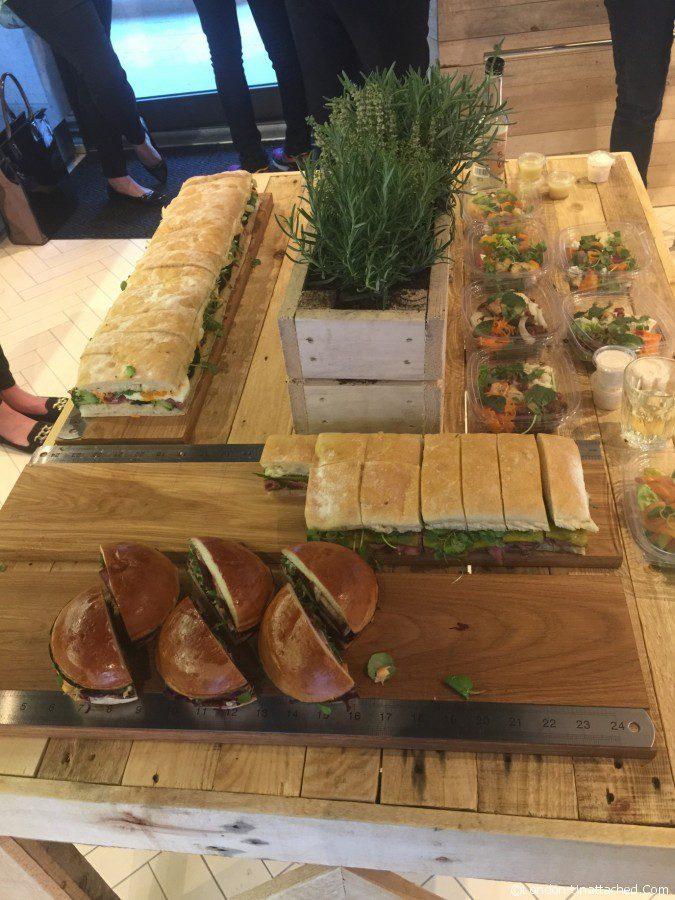 Street kitchen sandwich - selection