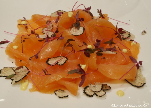 Tartufi and friends - smoked salmon with truffles