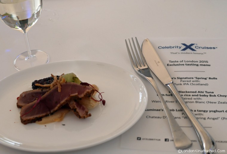 Taste of London Tuna Celebrity Cruises