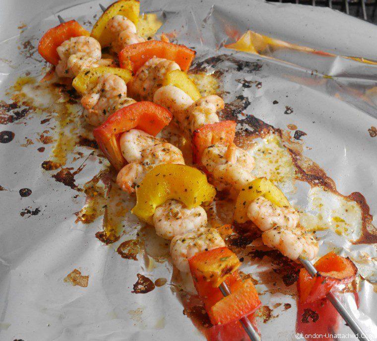 Barbecued prawns 2
