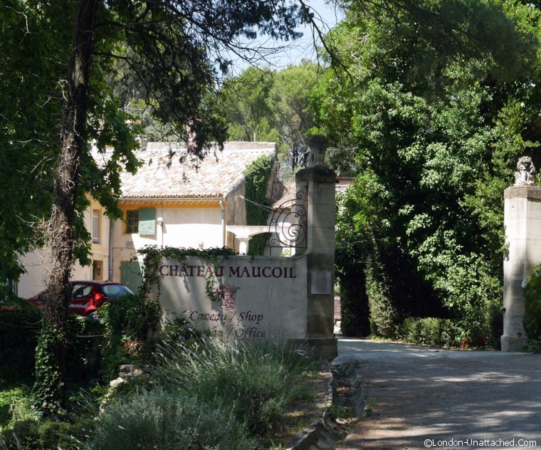 Chateau Maucoil entrance