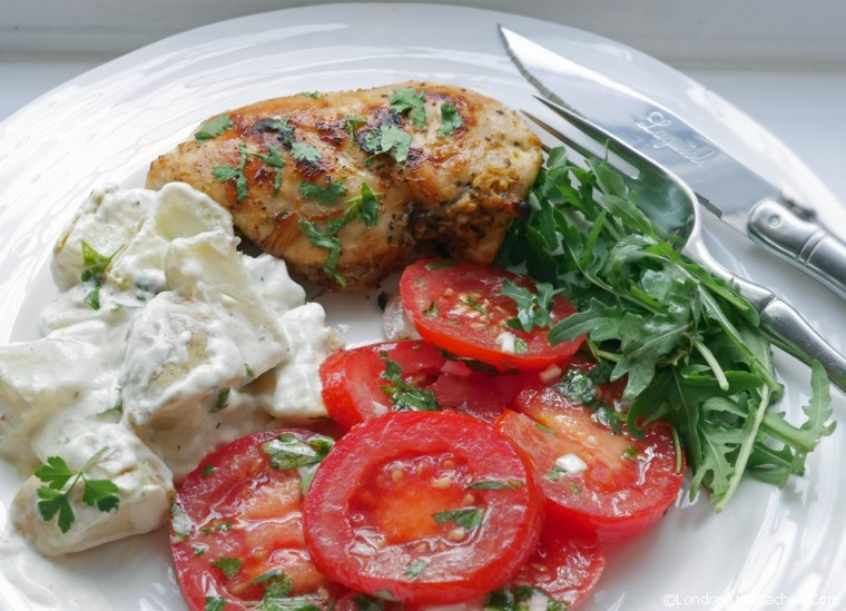 Mojito Chicken Breast with Potato Salad