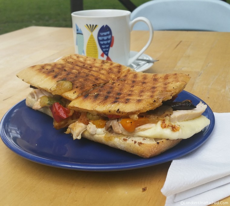 Roasted Vegetable Panini - kennington park cafe