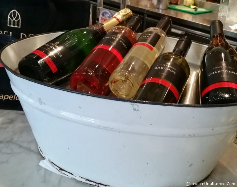 Wines on ice at Paternoster Chop House