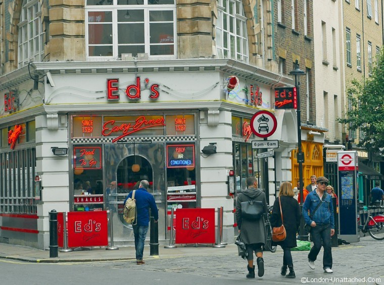 Eds Easy Diner Exterior Soho
