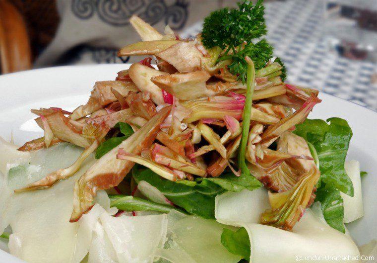 Iddu - raw artichoke salad