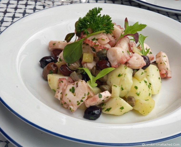 Octopus and potato salad