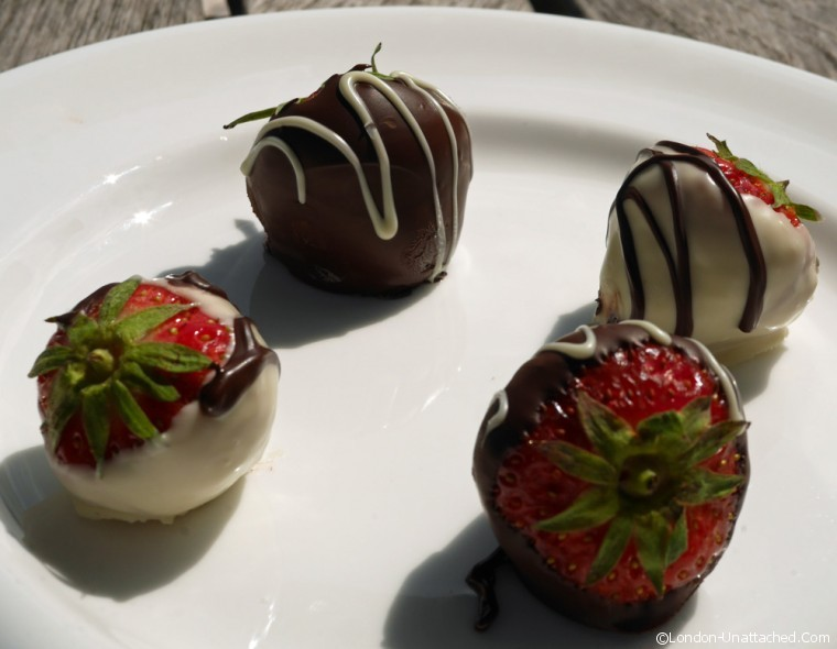 Warren House chocolate strawberries