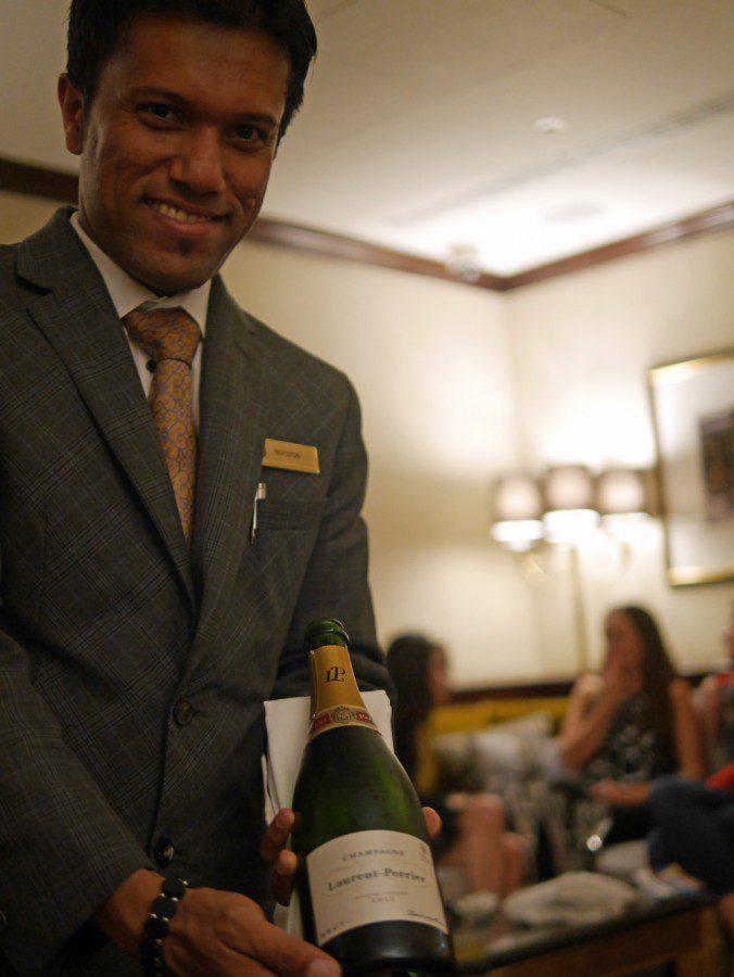 Champagne tasting at Taj St James's