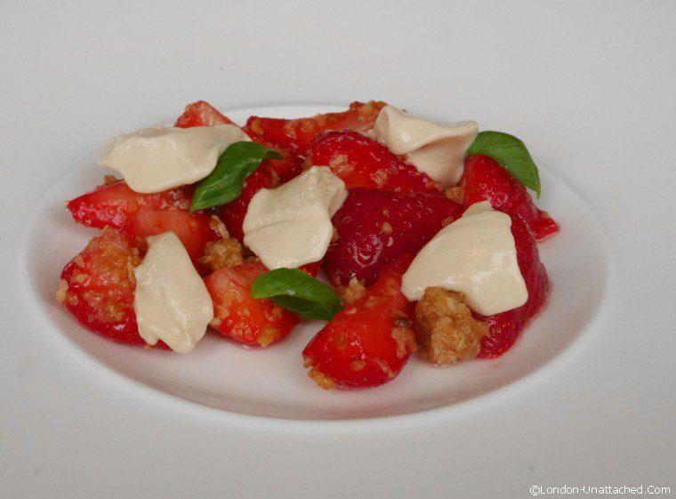 Charlottes Place - strawberry pre dessert