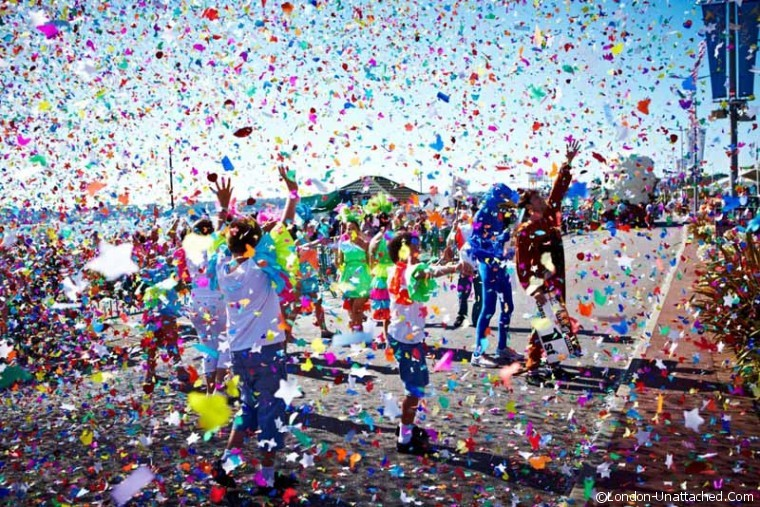 Confetti at The Jersey Battle of Flowers
