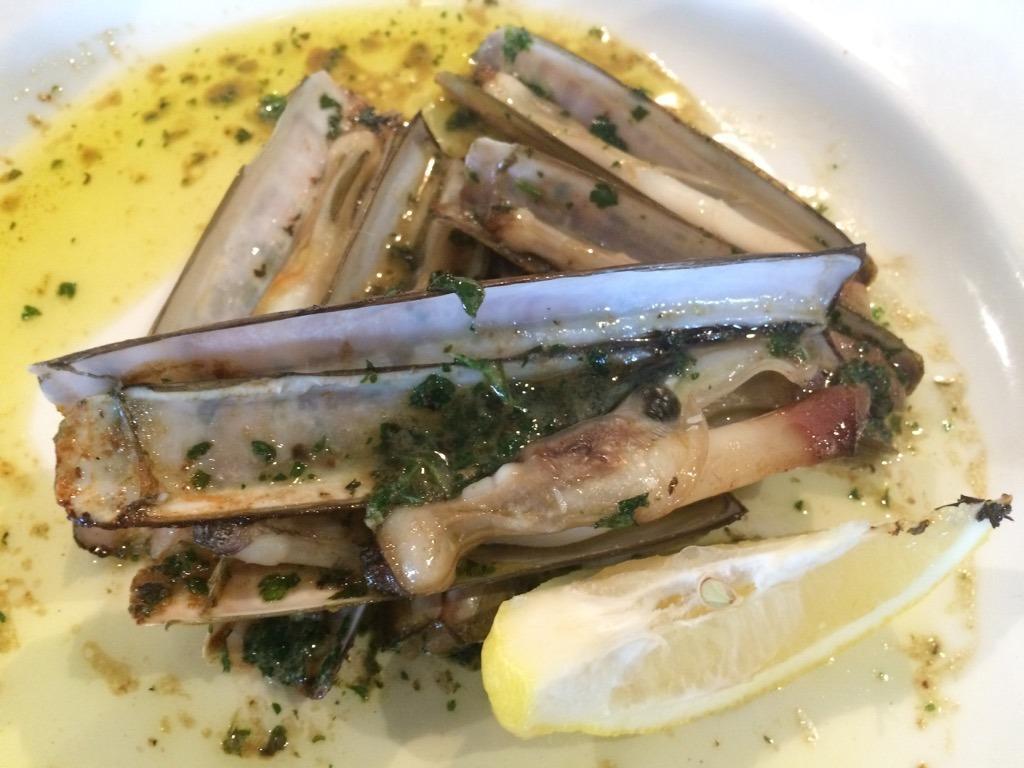 Rye Webbe's razor clams