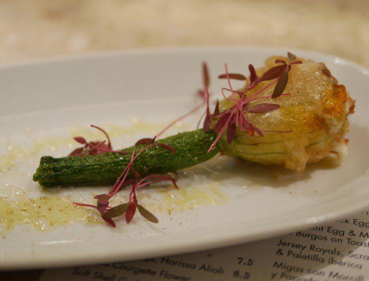Barrafina stuffed courgette flower