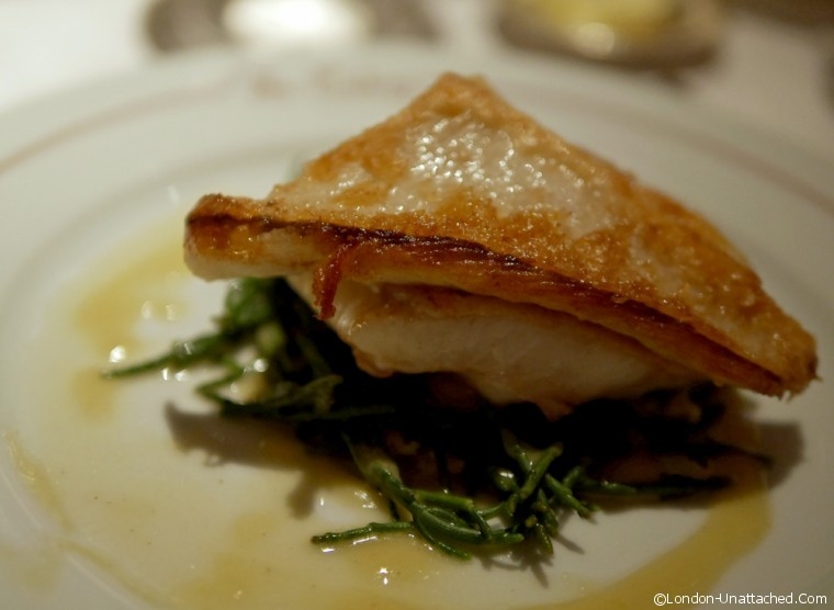 Colony Grill - Brill with Samphire - Colony Grill Room