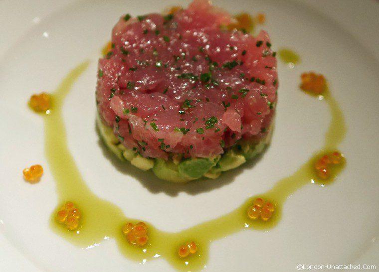 Colony Grill tuna tartare Colony Grill Room
