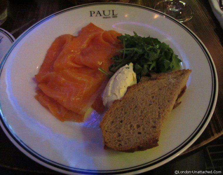 Restaurant Paul smoked salmon