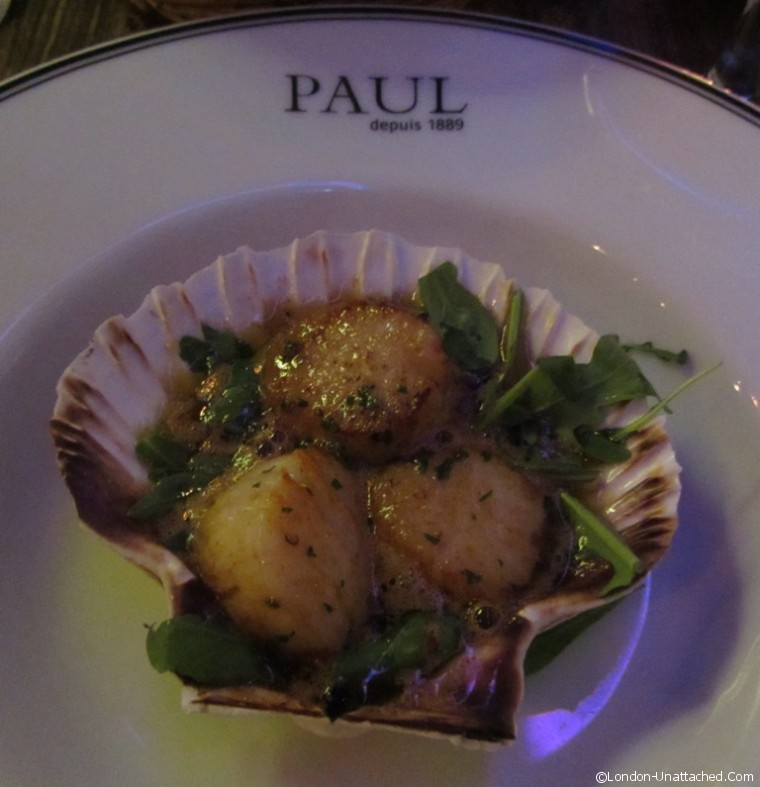 Restaurant Paul scallops