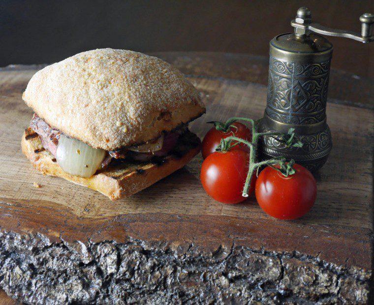 Mediterranean Vegetable Steak Sandwich - small