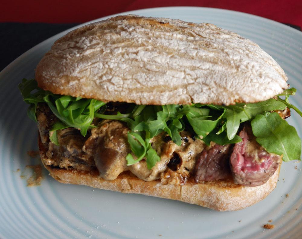 Steak Stroganoff Sandwich