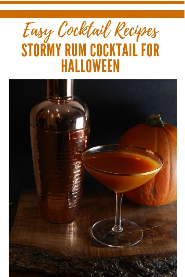 Stormy Rum Cocktail for Halloween