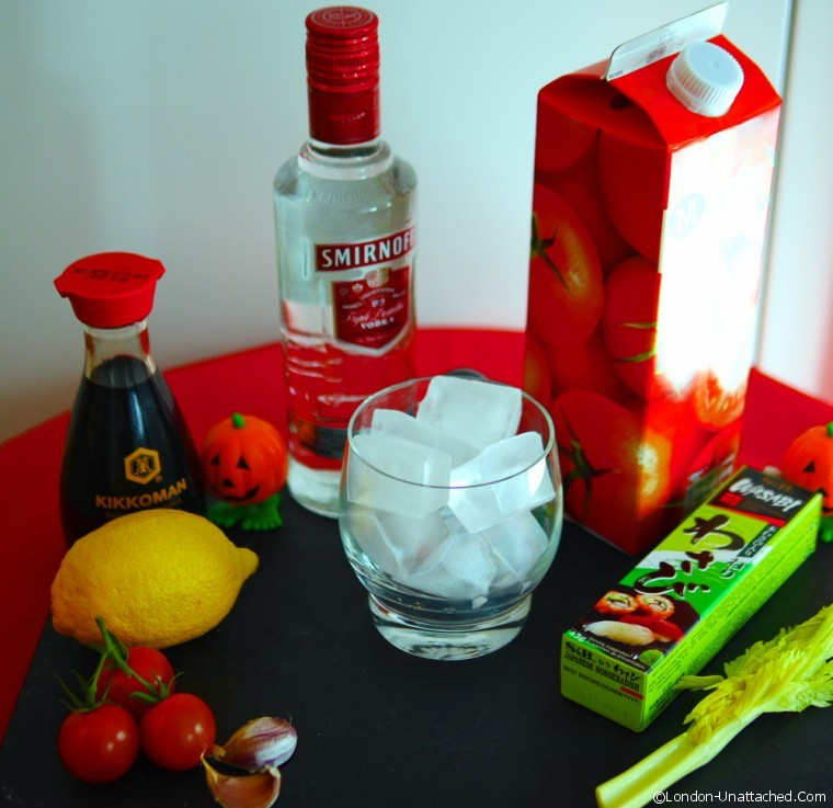 The Red Widow Halloween Cocktail ingredients