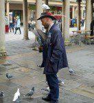 Bath pigeon man