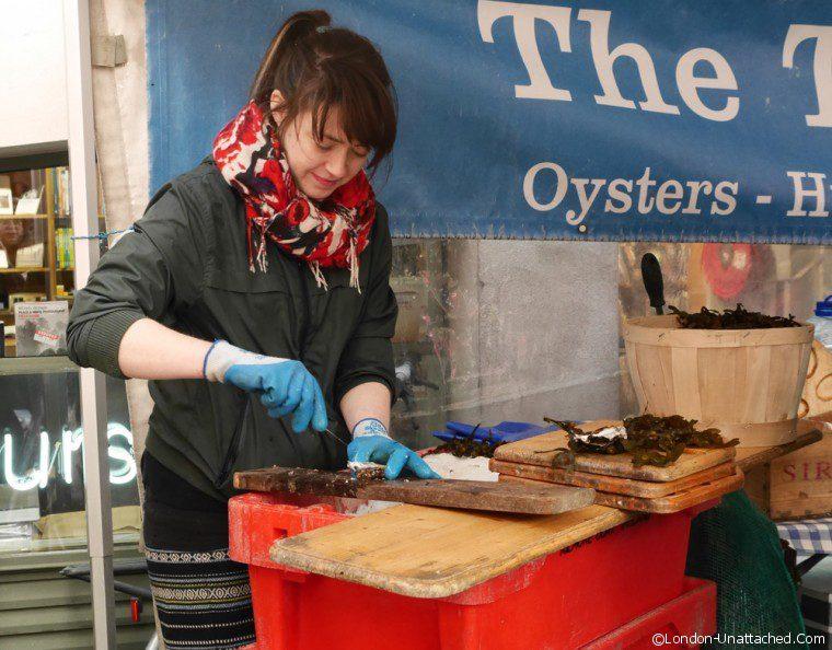 Dublin - shucking Oysters