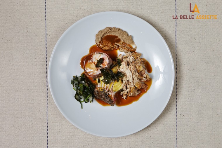 La Belle Assiette Rabbit, Spinach and Mushrooms from Tony Rodd