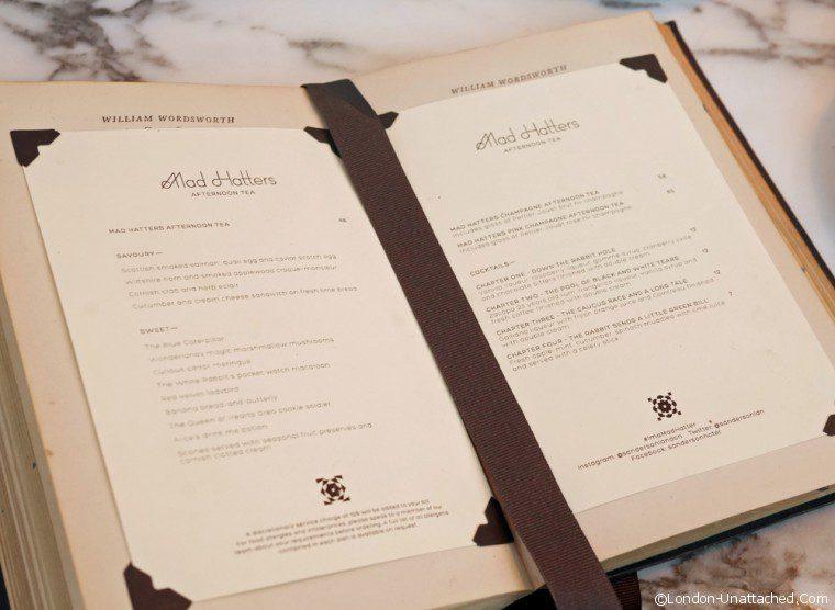 Sanderson - menu