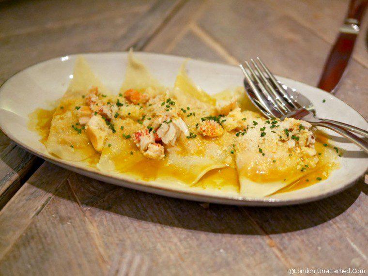 bouillabaisse lobster ravioli