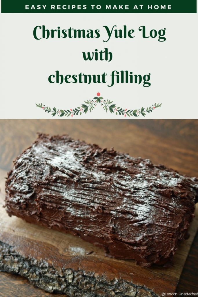 Christmas Yule Log Recipe _ Easy Yule Log Recipe _ Chestnut filled Yule Log _ Simple Recipe Yule Log _ Home Made Yule Log