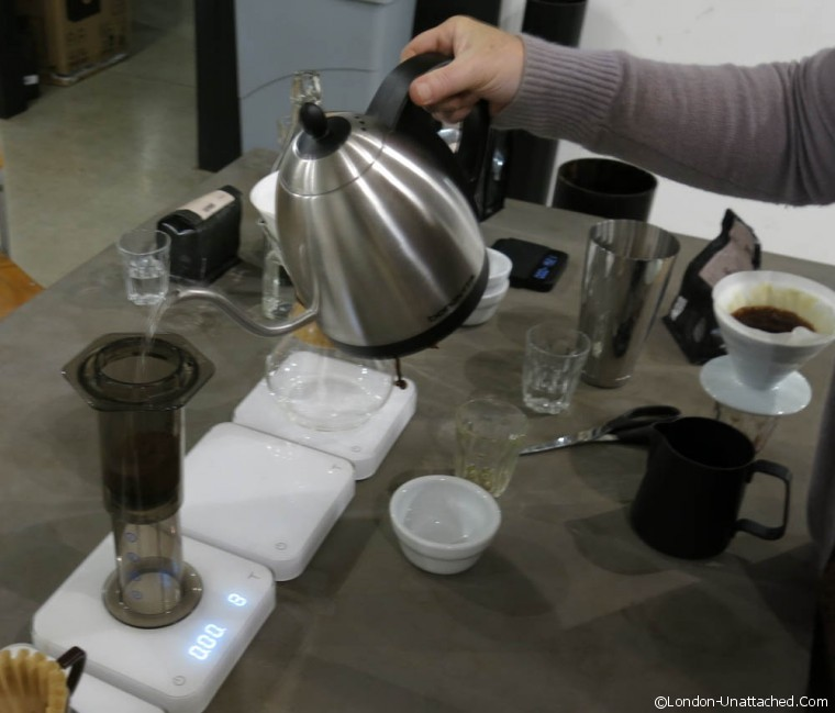 Making Coffee Aeropress