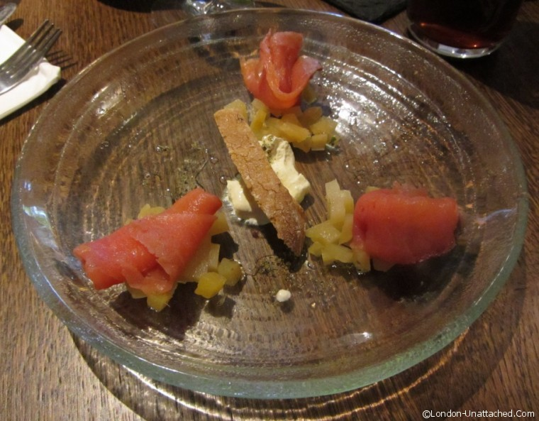 The Crown - Smoked Salmon starter