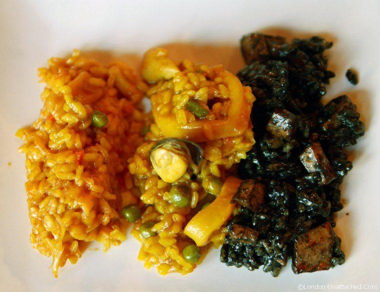 Trio of Rice at Alquimia