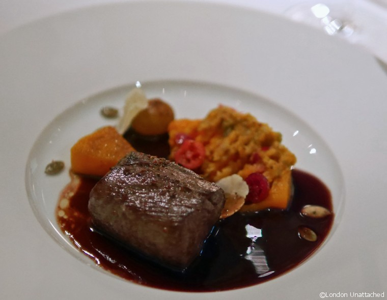 Alain Ducasse at the Dorchester Venison