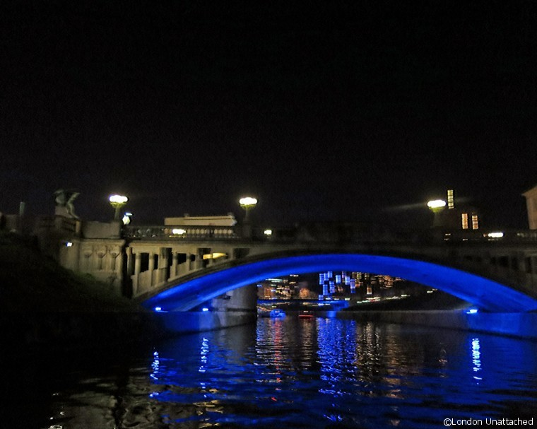 Ljubljana at night - bridge