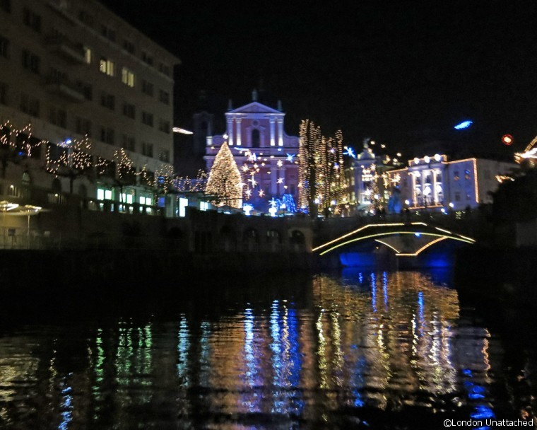 Ljubljana at night - river