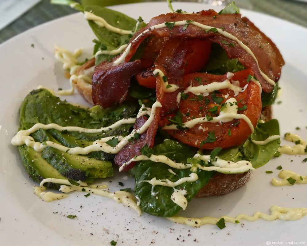 One Duke Street Bacon Tomato and Avocado