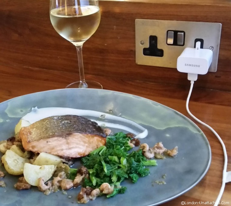 City Airport - Rhubarb Salmon and White wine
