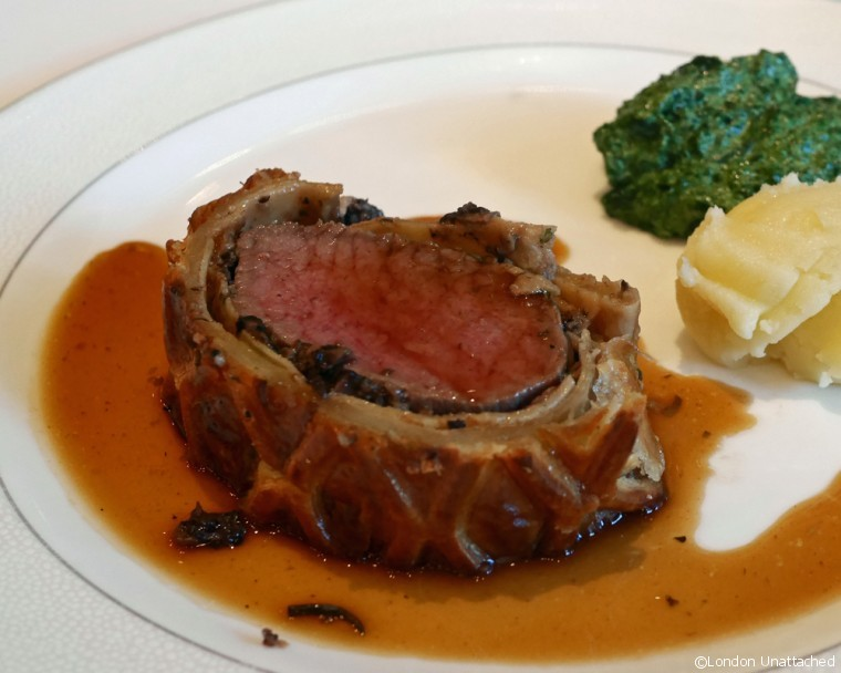 Roux at the Landau beef wellington