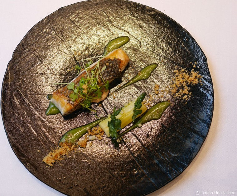 Ametsa - Halkin Hotel - Sea Bass with Celery Illusion
