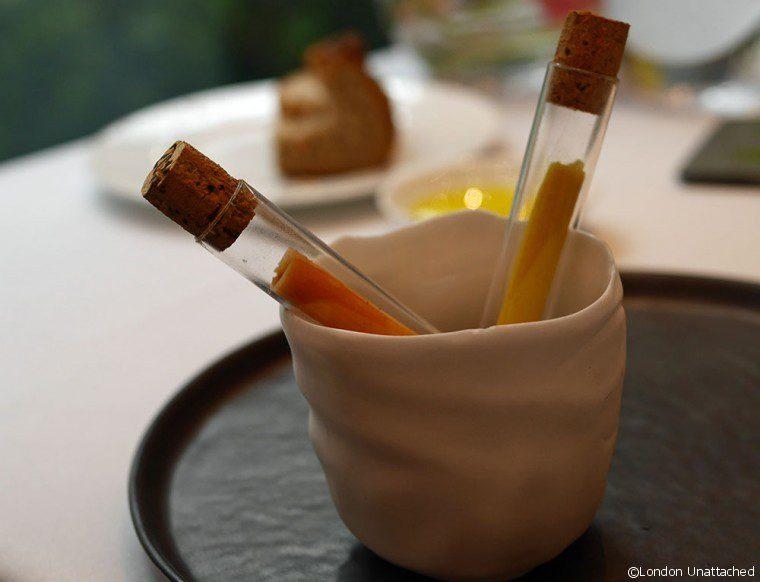 Ametsa - Halkin Hotel - ham test tubes 2
