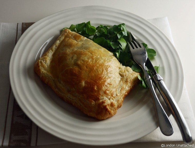 Beef Wellington on plate
