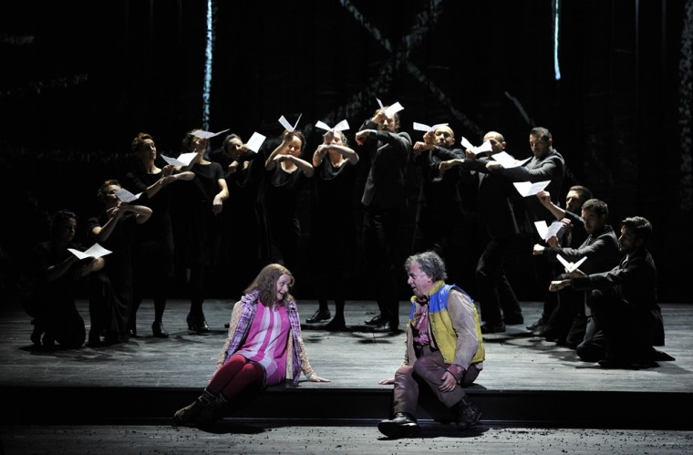 ENO 1516 The Magic Flute - Soraya Mafi, Peter Coleman-Wright, Company (c) Robbie Jack (opt)