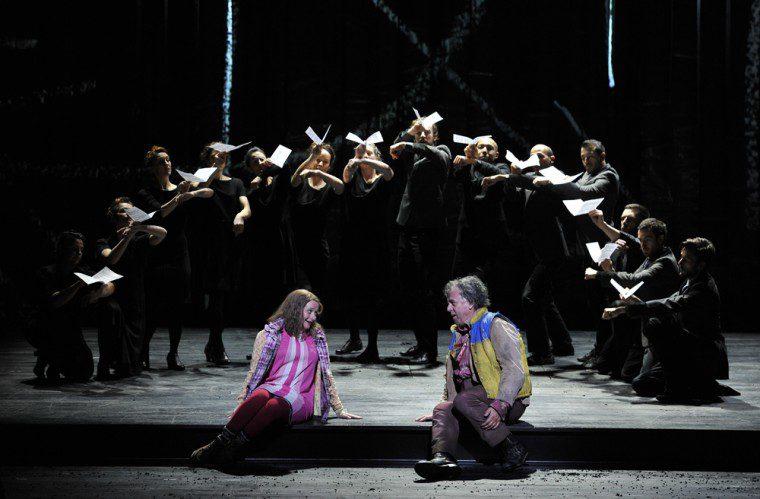 ENO 1516 The Magic Flute - Soraya Mafi, Peter Coleman-Wright, Company (c) Robbie Jack (opt)