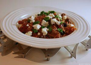 Greek Lamb Casserole with Mint and Feta
