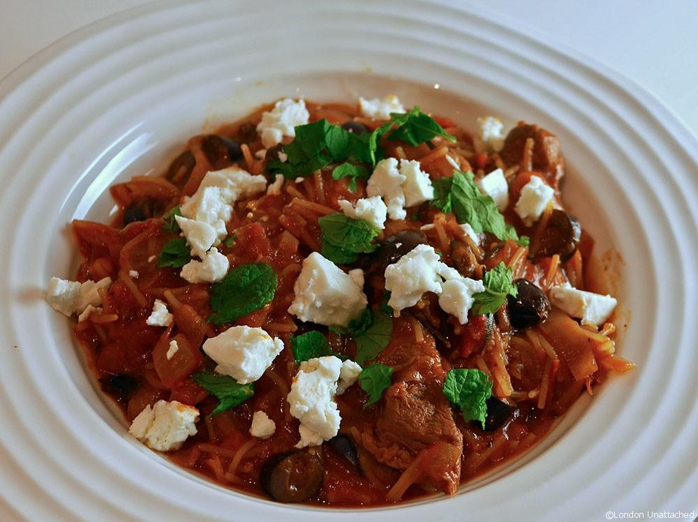 Greek Lamb Casserole With Mint And Feta The Taste Of Greece
