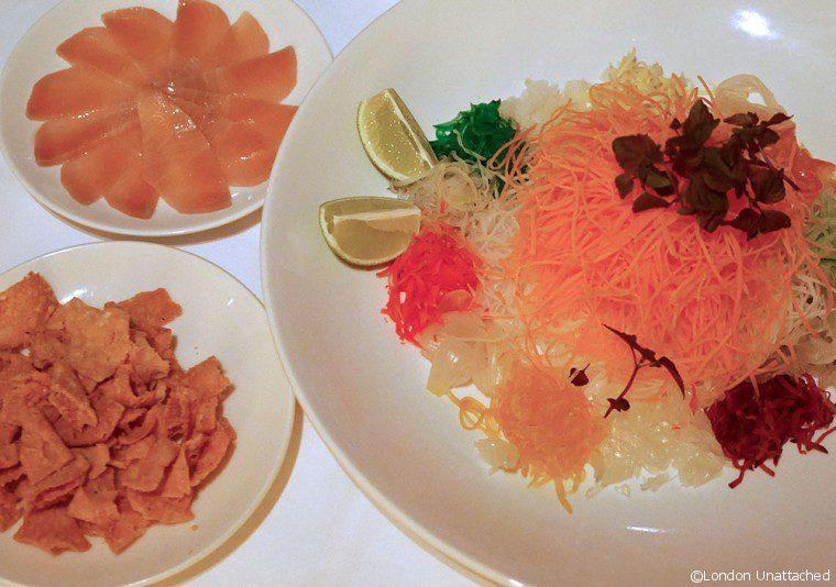 Min Jiang yu sheng salad